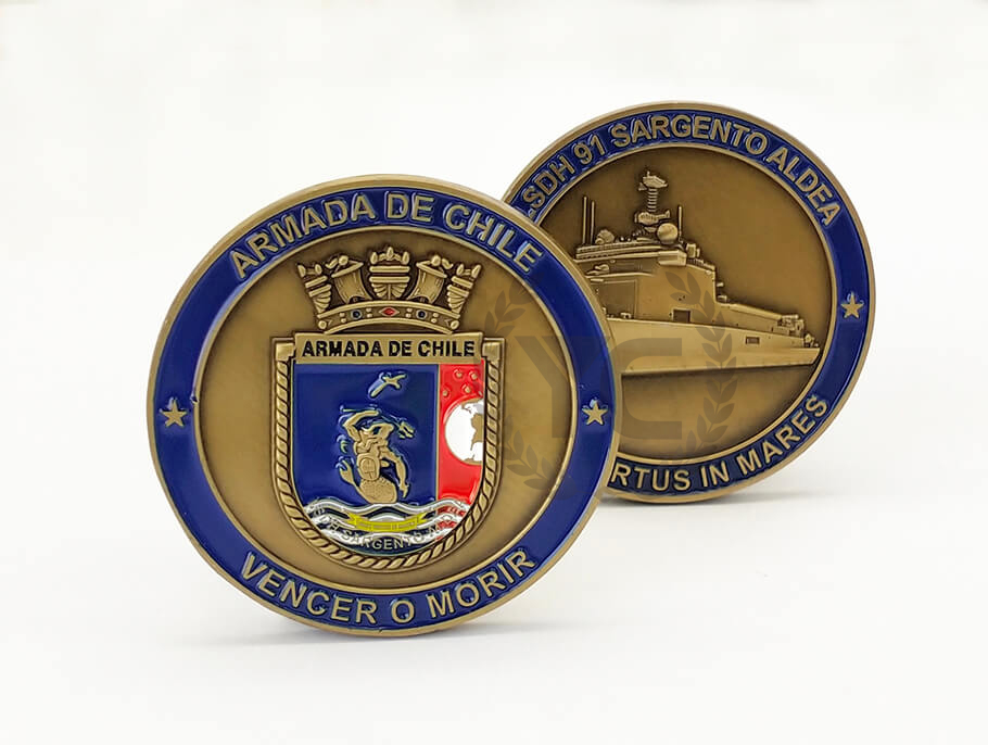 Custom Chile Navy Challenge Coin