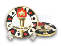 Metal Playing Card Souvenir Coins